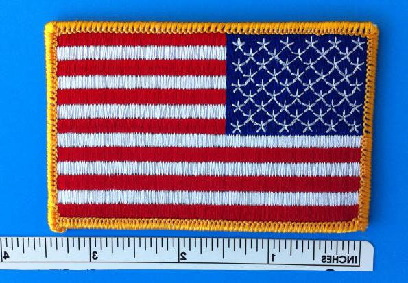 USA AMERICAN EMBROIDERED PATCH IRON-ON BORDER