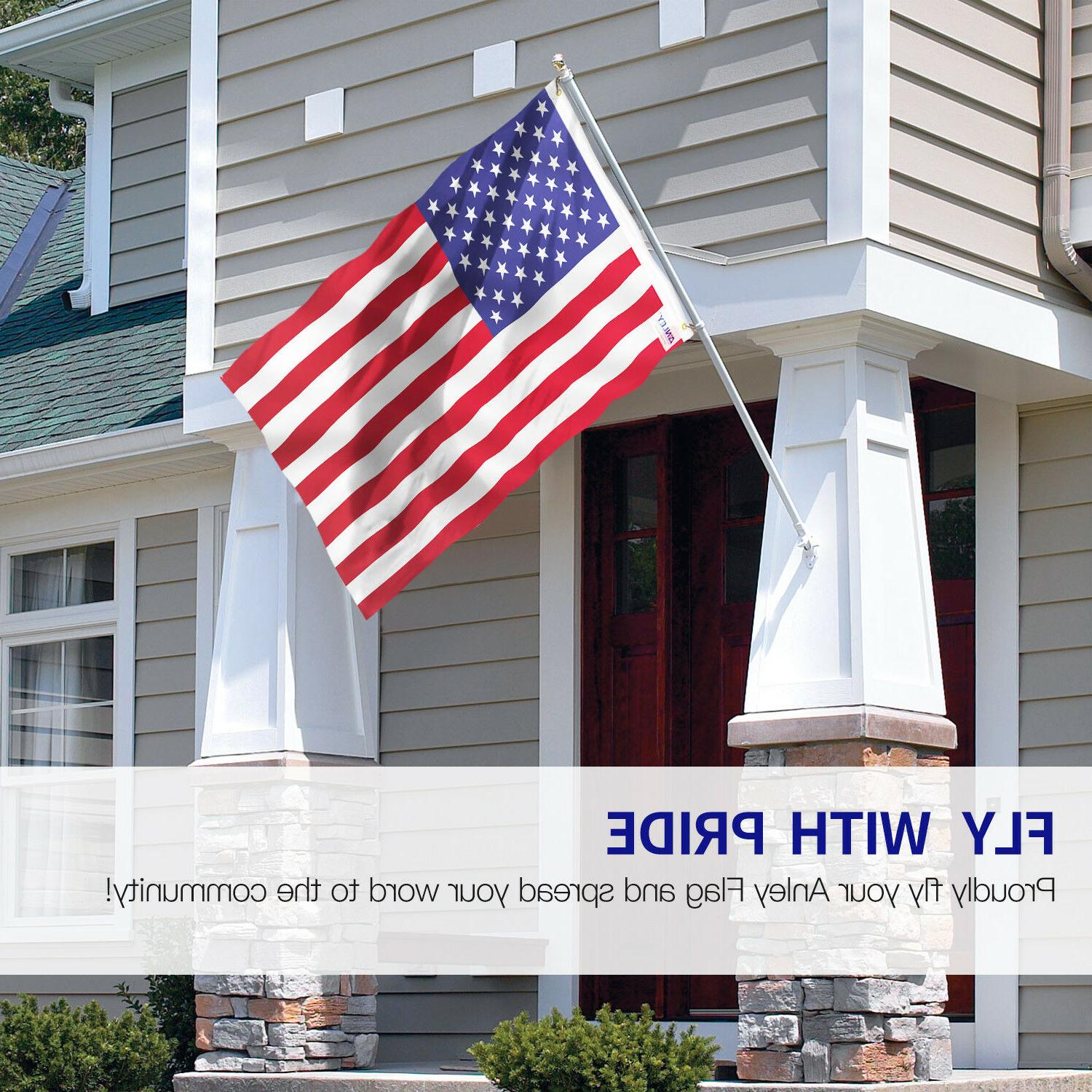 Anley Fly Breeze Foot American USA Flags & 4x6 Ft