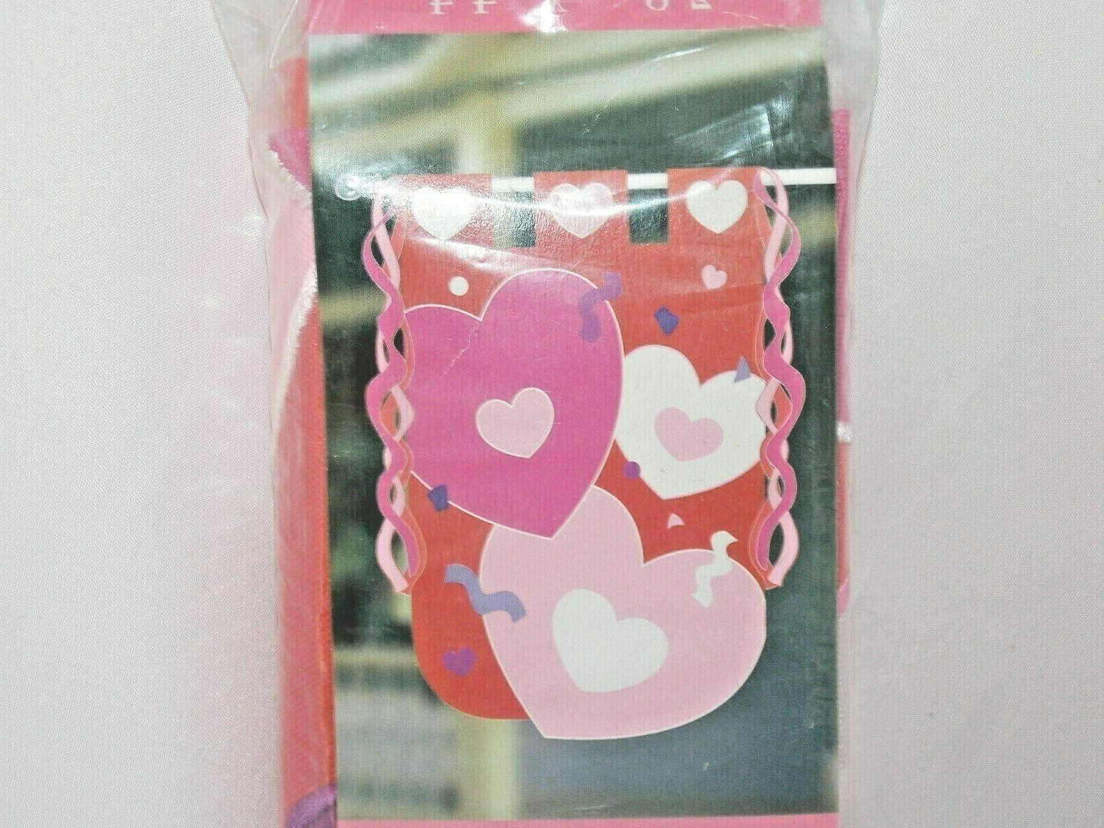 valentine s hearts and streamers flag home