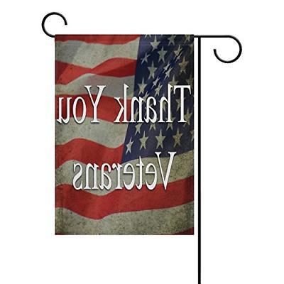 ALAZA Veterans Day Garden Flag Vertical Double Sided Print S