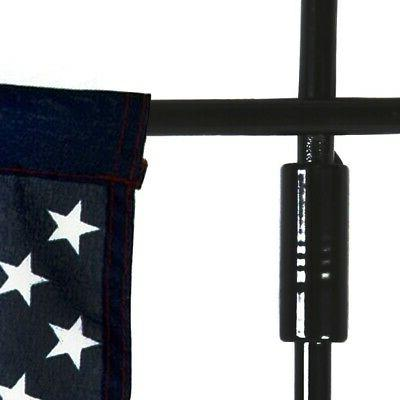 US Yard Flag Pole Stand Outdoor Garden Decor Stake