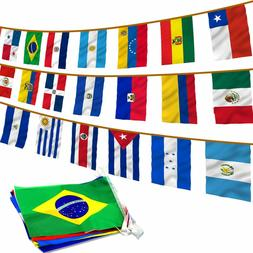 Anley Latin America 20 Countries String Flags - Assorted Lat