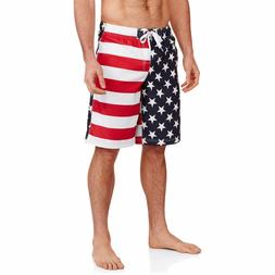 American Flag Swim Trunks USA Board Shorts Swimsuit S M L XL