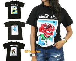 Mexican Loteria Unisex Black T-Shirt Funny Small to 2XL