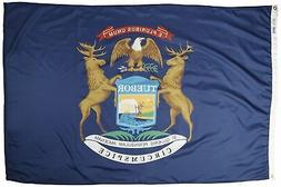 Annin Flagmakers Model 142670 Michigan State Flag 4x6 ft. Ny