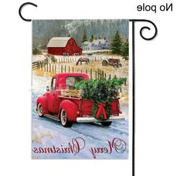 Morigins Merry Christmas Red Truck with Gifts Double Winter