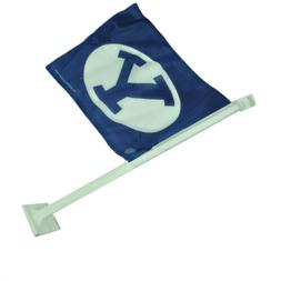 NCAA Brigham Young Cougars 1 Car Window Flag Sports Tailgate