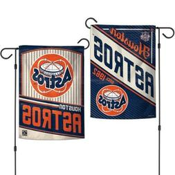 "New MLB  Houston Astros  2 Sided 12.5"" X 18"" Cooperstown Gar"