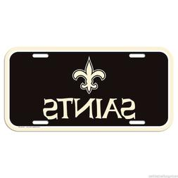 NEW ORLEANS SAINTS OFFICIAL NFL LICENSE PLATE WINCRAFT NEW F