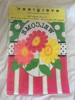 New Small Spring Garden Flag - Welcome, Flower, Butterfly Ev