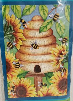 nip bee hive sunflowers large front porch