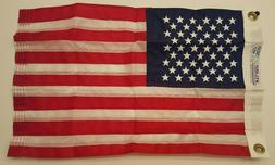 """Annin Nyl-Glo American US Flag 12"""" x 18"""" Embroidered Stars S"""
