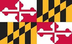 Valley Forge, Maryland State Flag, Nylon, 3' x 5', 100% Made