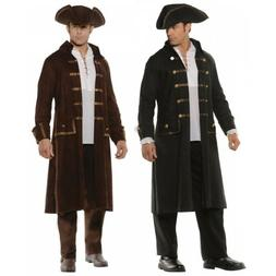 Pirate Costume Adult Long Coat and Hat
