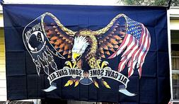 POW MIA All Gave Some Some Gave All 3X5 Military Banner Eagl