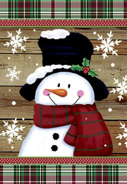 Morigins Smile Snowman with Red Scarf Decorative Snowflakes
