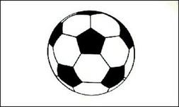 Soccer Ball Flag Sports Banner Futbol Pennant 3x5 Indoor Out