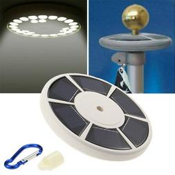 Solar 26LED Flag pole Top Bright Light Auto Improved for 15-