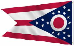 G128 – Ohio State Flag US USA | 3x5 ft | Embroidered 210D