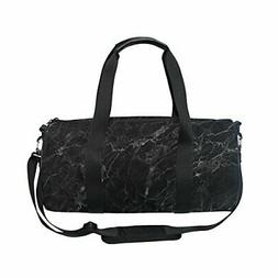 ALAZA Stylish Marble Look Sports Gym Duffel Bag Travel Lugga