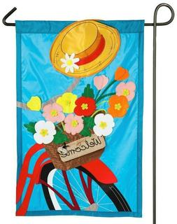 Evergreen SUMMERTIME BICYCLE Double Sided Applique Spring Ga