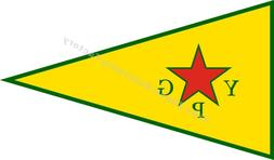 Syrian YPG Flag People's Protection Units 3X2FT 5X3FT 6X4FT