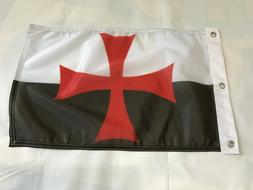 Templar Knights Battle Flag Polyester 12 X 18 Inches Boat Mo