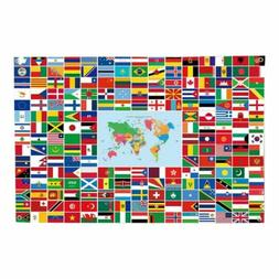 The Combined World Flag Banner International Flags Banner 96