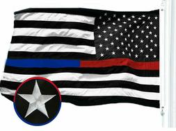 G128 – Thin Blue & Red Line Police Flag | 3x5ft | Embroide