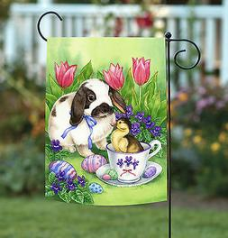 Toland Easter Friends 12.5 x 18 Cute Bunny Rabbit Duck Color