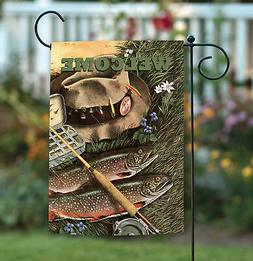 Toland Fly Fishing Welcome 12.5 x 18 Outdoor Sport Fish Pole