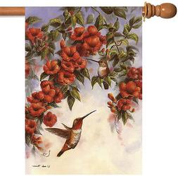 Toland Hovering Hummingbirds 28 x 40 Flying Bird Spring Flow