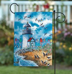 Toland Lighthouse Point 12.5 x 18 Colorful Sailboat Beach Bi