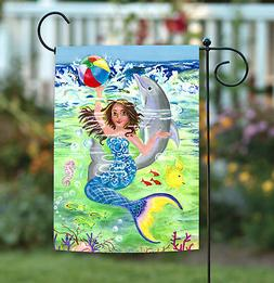 Toland Mermaid Coast 12.5 x 18 Colorful Swimming Ocean Dolph