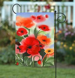 Toland Watercolor Poppies 12.5 x 18 Colorful Spring Summer F