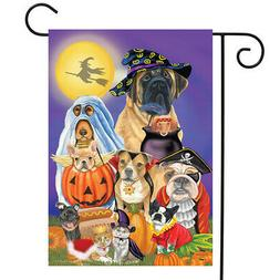 Trick or Treat Dogs Halloween Garden Flag Cats Jack o'Lanter