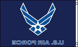 """""""US AIR FORCE"""" flag 3x5 ft poly  united states military troo"""