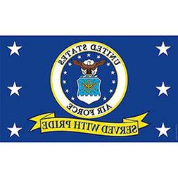 US Air Force Served with Pride Super Poly Full Sized Flag 3'