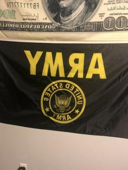 ANLEY US Army Crest Flag United States Military Banner Polye