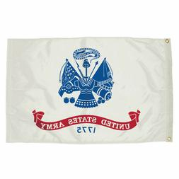 US ARMY WHITE Flag 3'x5' BANNER Polyester with Grommets MILI