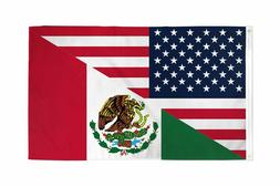 USA Mexico Friendship American Mexican Combination 3x5 Banne