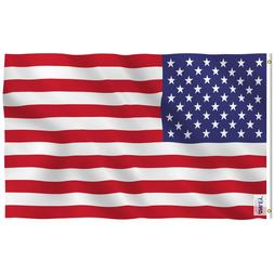 Anley Fly Breeze 3x5 Foot American US Flag USA Flags Polyest