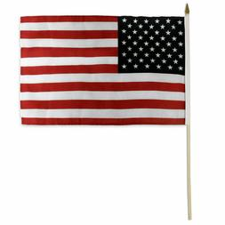 USA Stick Flag 12x18in - Fire Resistant - US of America - Am