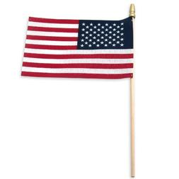 Online Stores USA Stick Flag with Spear Tip, 4 by 6-Inch, 25