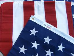 Valley Forge US American Flag 3'x5' PRINTED Poly/Cotton 100%