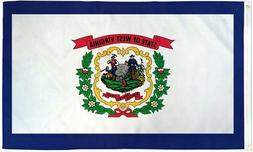 West Virginia State Flag 3x5 ft WV Coat of Arms White Blue 3