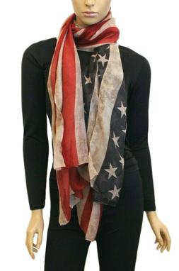 Women's American Flag USA Scarf Spring Summer Fall Patriot B